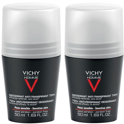 Vichy Deodorant Roll-On 72h 2x50 ml Roller