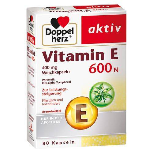 Doppelherz® Doppelherz Vitamin E 600 N 80 St Weichkapseln