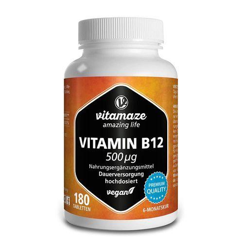 Vitamaze GmbH Vitamaze Vitamin B12 500 µg 180 St Tabletten
