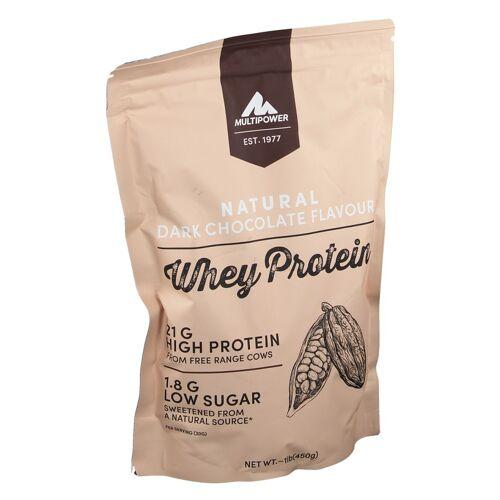 Multipower Whey Protein natural, dark Chocolate 450 g Beutel