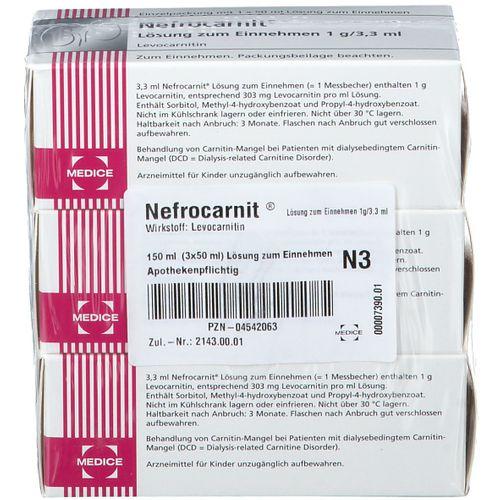 Nefrocarnit® Lösung zum Einnehmen 1 g/3,3 ml 150 ml Lösung zum Einnehmen