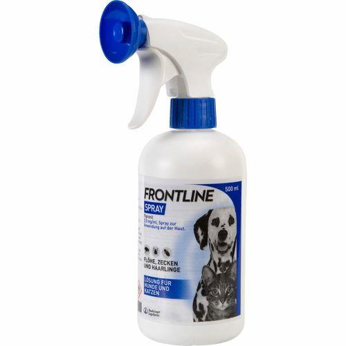 Frontline® Spray gegen Zecken und Flöhe bei Hund und Katze 500 ml Spray