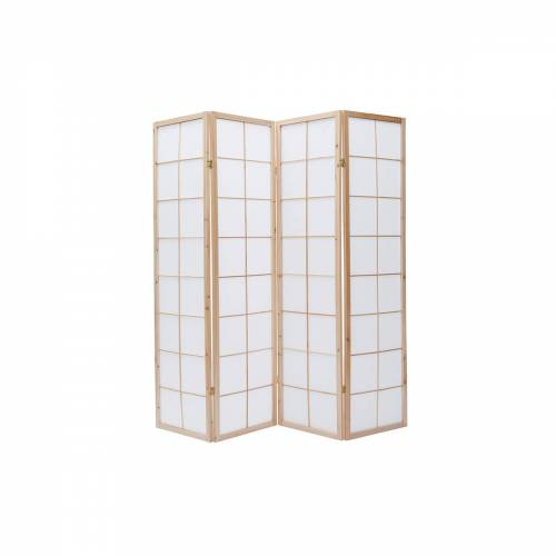 Miliboo Japanischer Paravent IKUYO, Holz und Papier