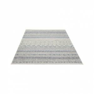 Miliboo Beige und blau gemusterter Teppich 150 x 220 cm TRIBAL