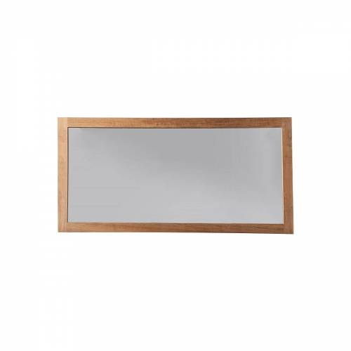 Miliboo Spiegel Badezimmer aus Teakholz 140 x 70 cm SANA