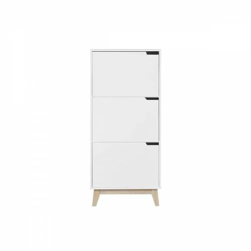 Miliboo Design-Aufbewahrungsmöbel Weiß 3 Türen LEENA