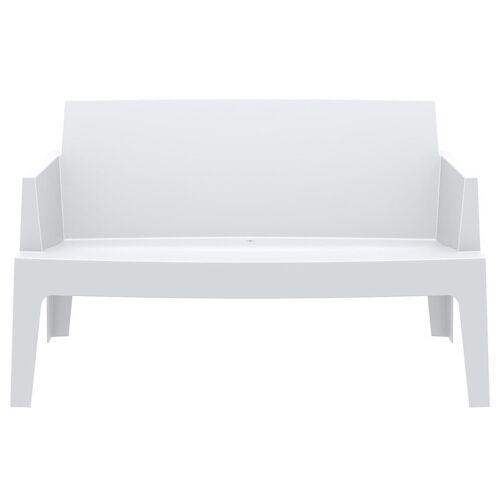 Miliboo Design-Gartenbank Weiß LALI