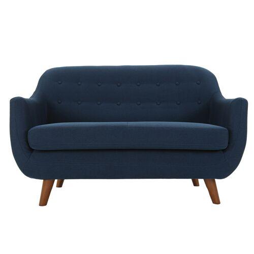 Miliboo Design-Sofa 2 Plätze Blau YNOK