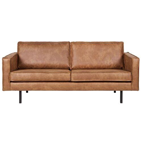 Miliboo Vintage-Ledersofa Beige 2 Sitzplätze ASPEN
