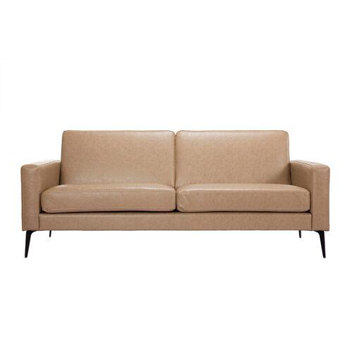 Miliboo Vintage-Sofa camelfarben 3 Sitzplätze RICCI