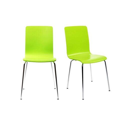 Miliboo 2 Design-Küchenstühle NELLY Apfelgrün