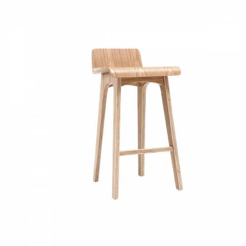 Miliboo Barstuhl aus Holz - 65 cm - skandinavisch - BALTIK