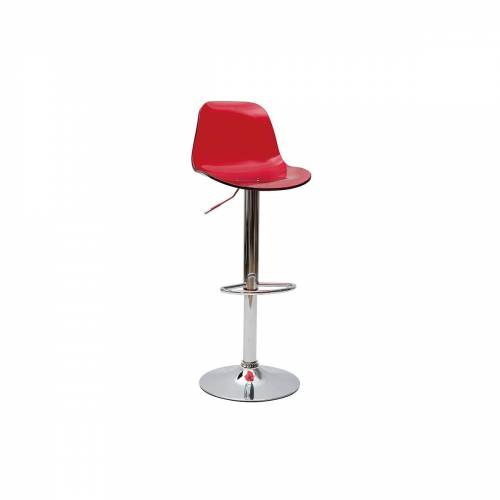 Miliboo Design-Barhocker GALILEO Rot transparent