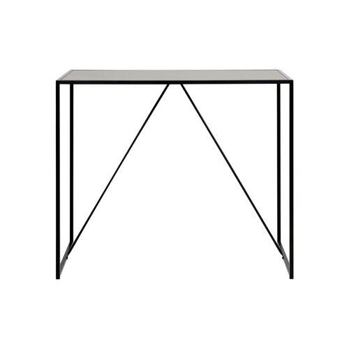 Miliboo Designer-Stehtisch aus schwarzem Holz und Metall TRESCA