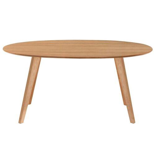 Miliboo Esstisch skandinavisches Design oval Eiche L160 MARIK
