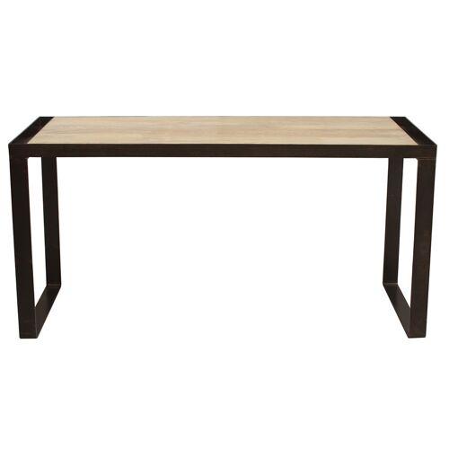 Miliboo Industrieller Design-Schreibtisch aus Massivholz L156 cm INDUSTRIA