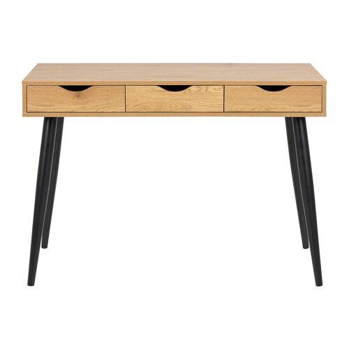 Miliboo Schreibtisch im skandinavischen Look schwarz und Holz BALZAC