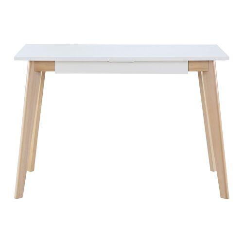 Miliboo Skandinavischer Schreibtisch LEENA weißes Holz
