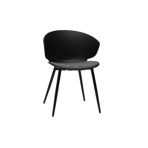 Miliboo Zeitgenössischer Stuhl Schwarz und Grau WING