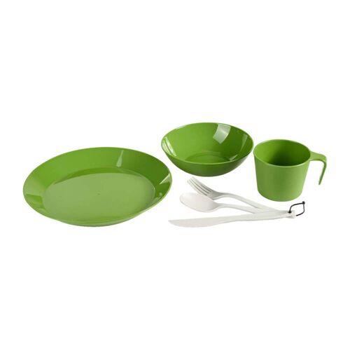 GSI CASCADIAN GESCHIRRSET Gr.1 PERSON - Campinggeschirr - grün oliv-dunkelgrün