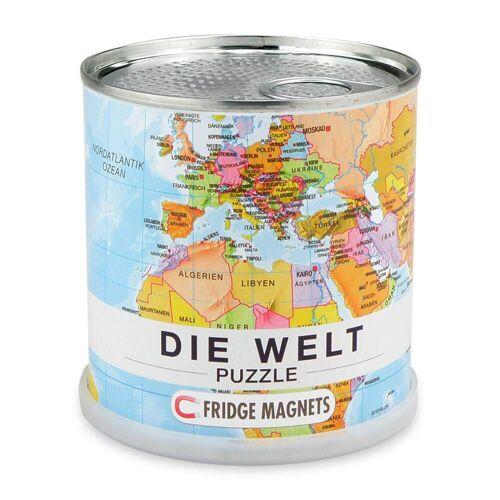 WELT MAGNET PUZZLE (DEUTSCH) - Weltkarte - weiß