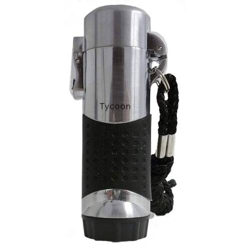 V-Fire JOJO TURBO CHROM SATIN - Feuerzeug - grau schwarz