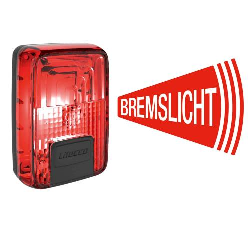 Litecco G-RAY USB-RÜCKLEUCHTE MIT BREMSLICHT - Fahrradbeleuchtung - rot