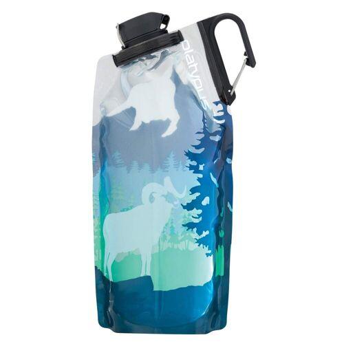 Platypus DUOLOCK SOFTBOTTLE, 1 L Unisex - Trinkflasche - weiß blau