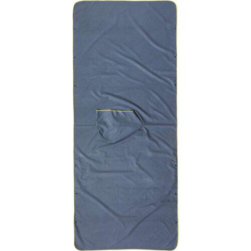 Cocoon MICROFIBER BEACH TOWEL / PONCHO ULTRALIGHT Gr.220x90 cm - Reisehandtuch - grau blau
