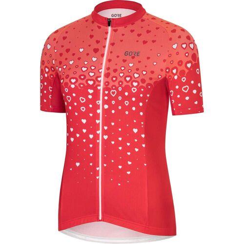 Gore Wear C3 JERSEY Frauen - Fahrradtrikot - rot weiß