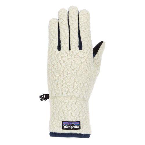 Patagonia RETRO PILE GLOVES Frauen Gr.M - Handschuhe - beige-sand blau
