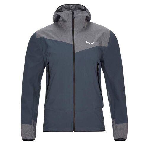 Salewa AGNER PTX 3L M JKT Männer Gr.50/L - Regenjacke - blau grau