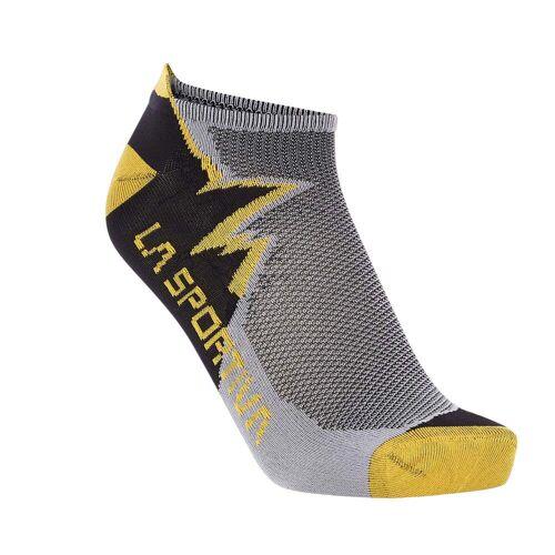La Sportiva CLIMBING SOCKS Gr.XL - Klettersocken Kurze Socken - grau gelb
