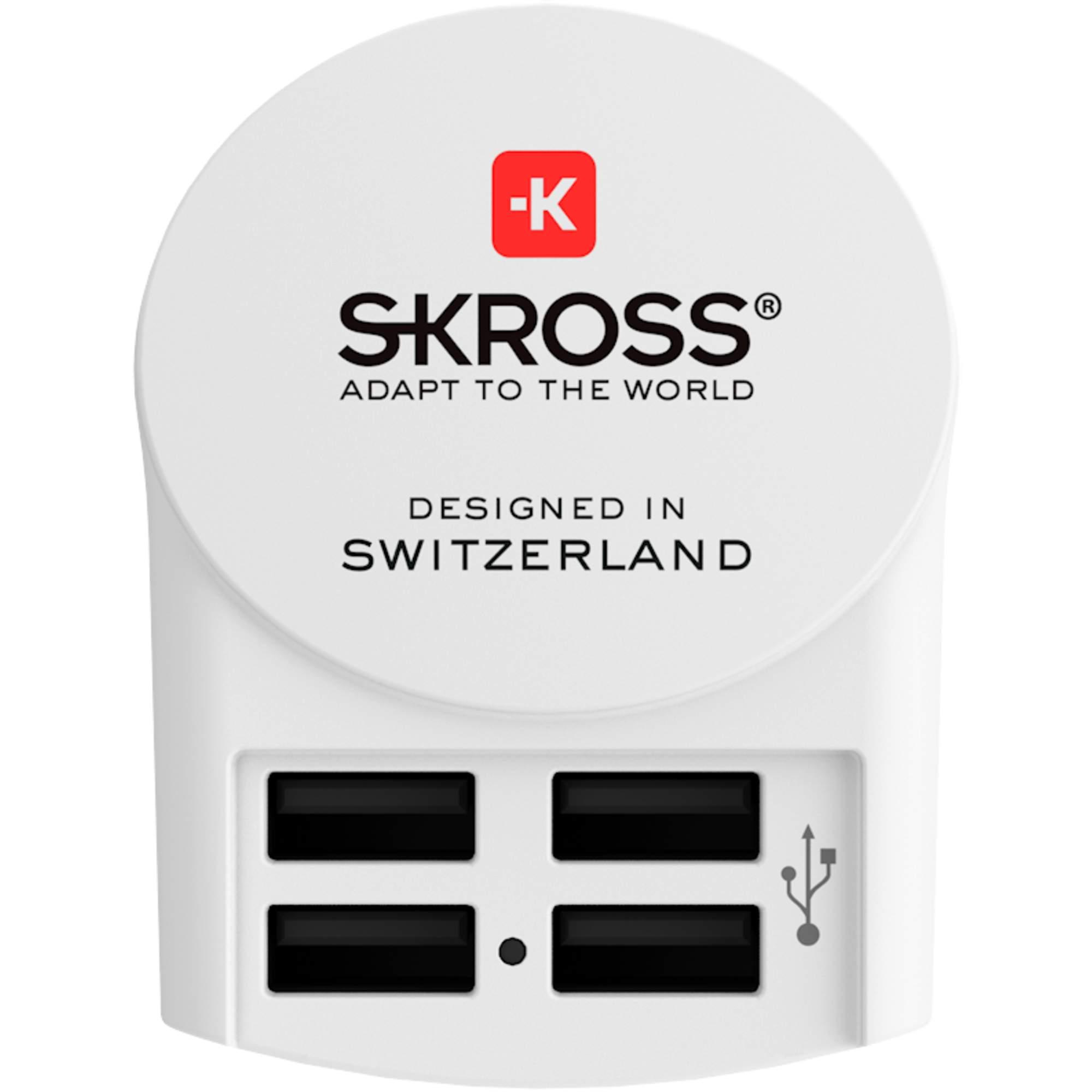 SKROSS EURO USB CHARGER 4A - Reisestecker - weiß