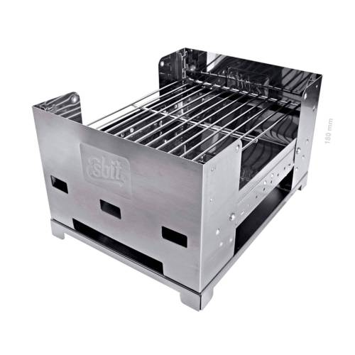 Esbit EDELSTAHL GRILL BBQ-BOX Gr.305 X 230 X 180 MM - Grill - grau