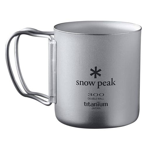 Snow Peak TITAN THERMOBECHER FALTGRIFF - Thermobecher - grau