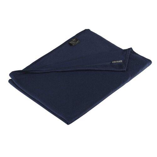 Cocoon MERINO WOLLE / SEIDE DECKE Unisex - Decke - Gr. ONESIZE - blau / GRAPHITE
