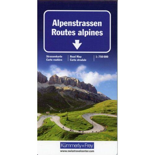 Alpenstrassen Strassenkarte 1 : 750 000 -  Straßenkarten