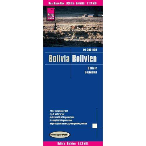 Reise Know-How Landkarte Bolivien / Bolivia 1:1.300.000 -  Straßenkarten