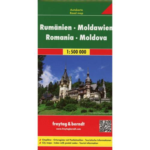 Rumänien, Moldawien 1 : 500 000. Autokarte -  Straßenkarten