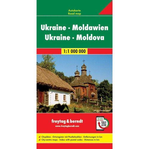Ukraine - Moldawien, Autokarte 1:1 Million -  Straßenkarten
