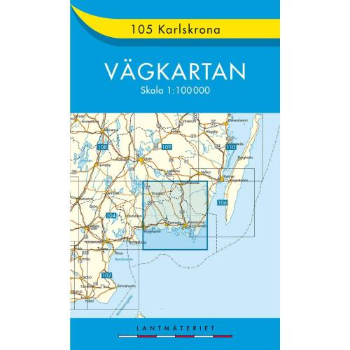 VÄGKARTAN 105 KARLSKRONA -  Straßenkarten