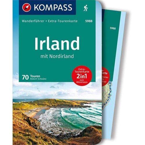 KOMPASS Wanderführer Irland mit Nordirland -  Wanderführer Westeuropa - Irland Nordirland Wanderführer