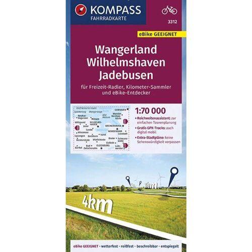 KOMPASS FAHRRADKARTE WANGERLAND, WILHELM -  Fahrradkarten