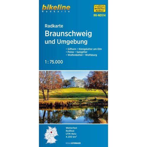 Radkarte Braunschweig und Umgebung 1 : 75.000 -  Fahrradkarten