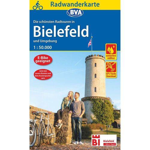 Radwanderkarte BVA Radwandern in Bielefeld und Umgebung -  Fahrradkarten