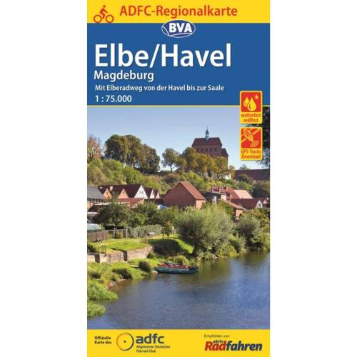 ADFC 1:75.000 ELBE/HAVEL MAGDEBURG - 1. Auflage 2016 -  Fahrradkarten