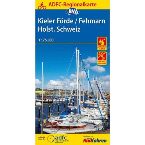 ADFC-REGIONALKARTE KIELER FÖRDE/FEHMARN - 4. Auflage 2018 -  Fahrradkarten
