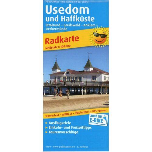 Usedom und Haffküste 1:100 000 -  Fahrradkarten
