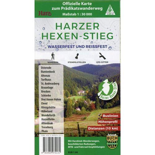 Harzer Hexen-Stieg -  Wanderkarten und Winterkarten